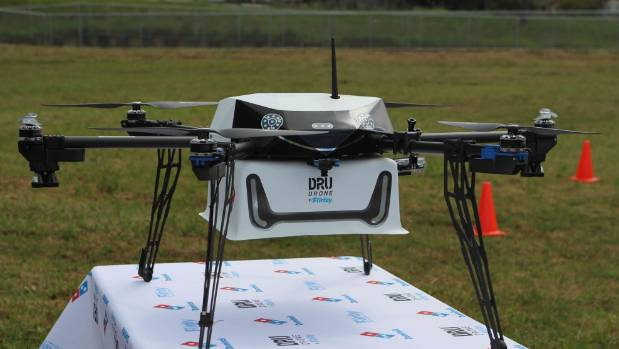 Pizza by drone a reality as NZ pizzas take flight.