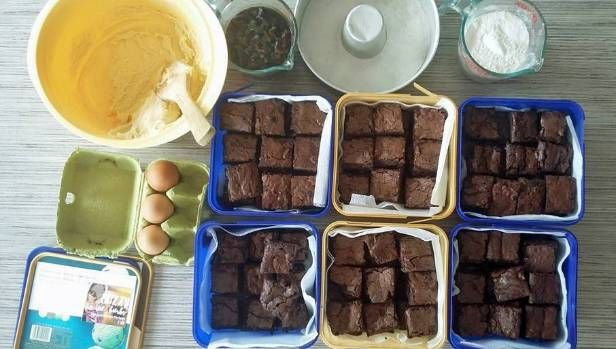 Three batches of brownies have already been sent to farmers in Kaikoura.