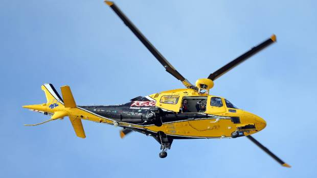 The Taranaki Rescue Helicopter was called to Eltham after a man was found unconscious after a fall (File Photo).