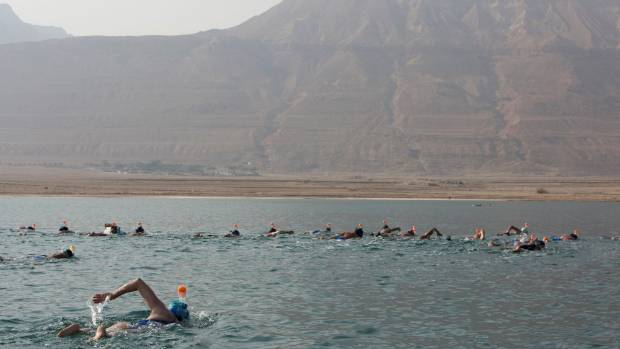 Swimmers went from the Jordanian to Israeli shore.