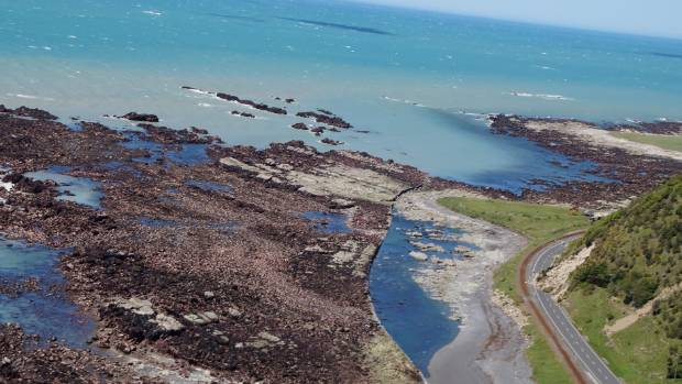 The pictures show how the land, rivers and seabed have been affected by the quake.