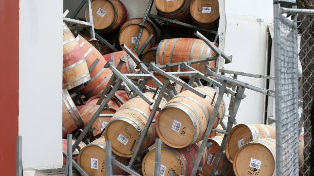 Marlborough wine companies are busy claiming insurance to cover losses from the 7.8 magnitude earthquake.