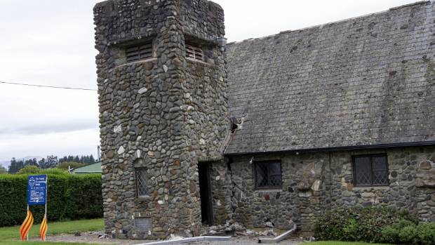 The Amuri All Saints Church in Waiau suffered a severely damaged tower