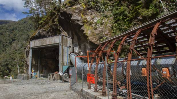 The Pike River mine portal. Plans to seal the mine have upset some family members.