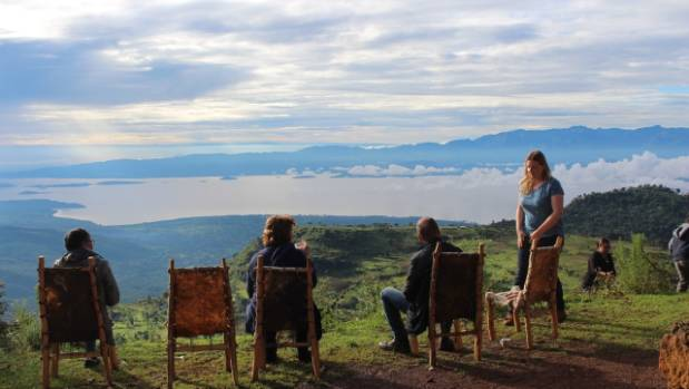 The view from Dorze Lodge, overlooking the lakes of Arba Minch.