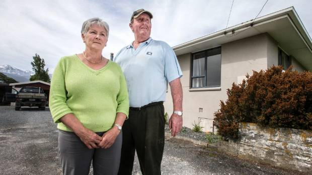 Lindy & Mick Ford have had to evacuate the home they have lived in for over 30 years.