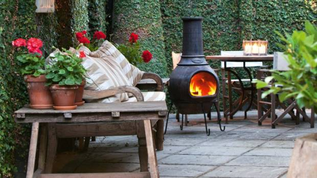 Shelter and a good burner will ensure an outdoor space can be used in winter too.