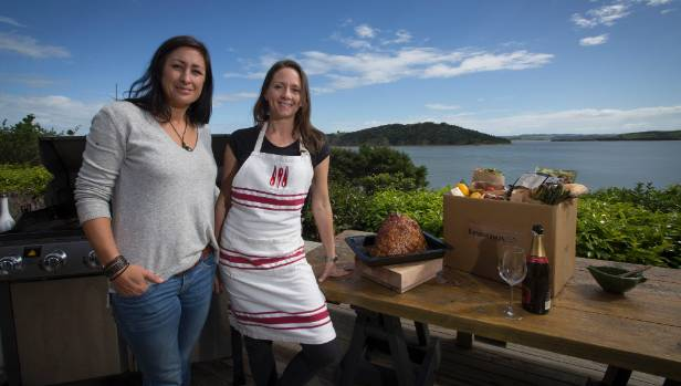 Feastbox co-owners Tara Wrigley, left, and Rachel Brown want to lift Kiwis' experience of the perfect Christmas barbecue.