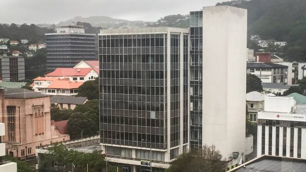 Wellington's 61 Molesworth St, damaged in the M7.8 earthquake, is going through the initial phases of deconstruction.