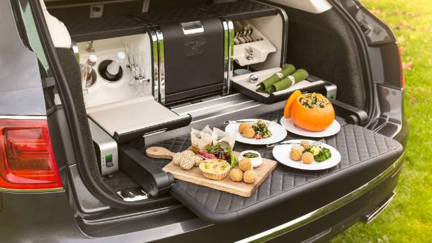 'Farm-collective' picnic in NZ would be pies on a Hilux tray. In UK, it's this lot for your Bentley Bentayga.