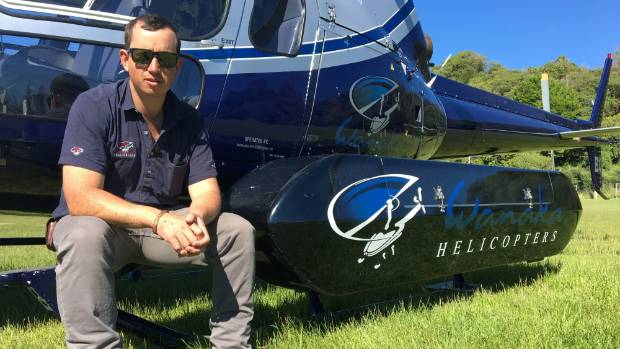 Wanaka Helicopters managing director Pete Spencer-Bower takes a break from his work in Kaikoura following last week's ...