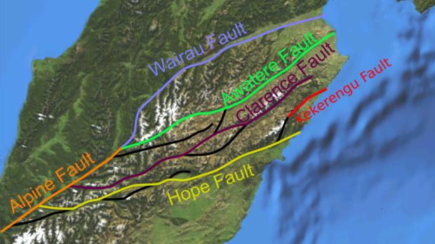 The Marlborough fault system.