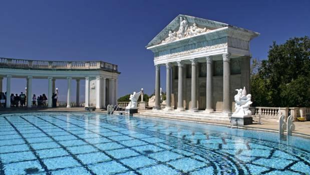Hearst Castle is the former home of media magnate William Randolph Hearst.