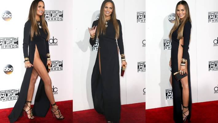 Chrissy Teigen's dress for the American Music Awards is a good example of  an outfit that - Work Dress Codes: What Not To Wear To The Company Christmas Party