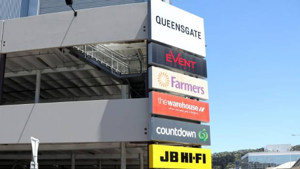 Queensgate mall in Lower Hutt was damaged in the earthquake.