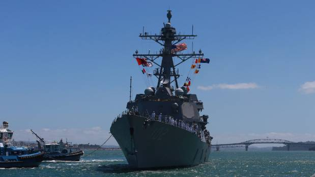 Gilbert was the first US ambassador in decades to welcome back a US warship to New Zealand. The USS Sampson helped with ...