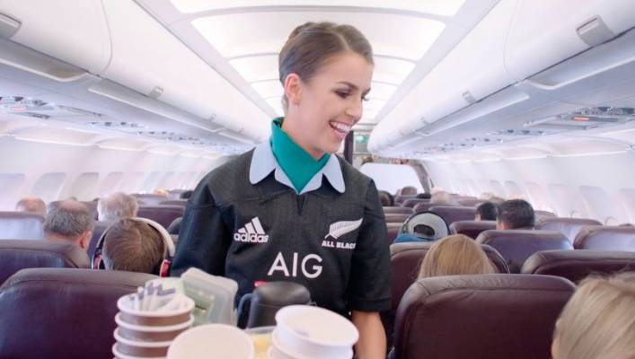 an aer lingus flight attendant is barely recognisable in her new uniform