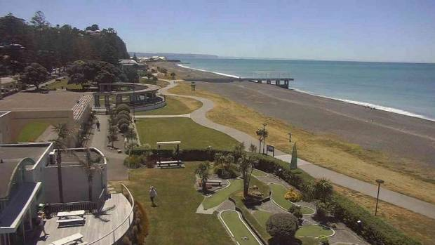 Temperatures in Napier went well into the 30s.
