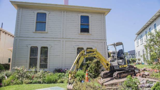 Katherine Mansfield House, in Wellington, was damaged when a brick wall fell on it during the November 14 earthquake.