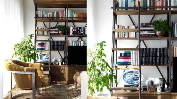 Pot plants, pottery and picture frames are great items to add to your bookshelf.