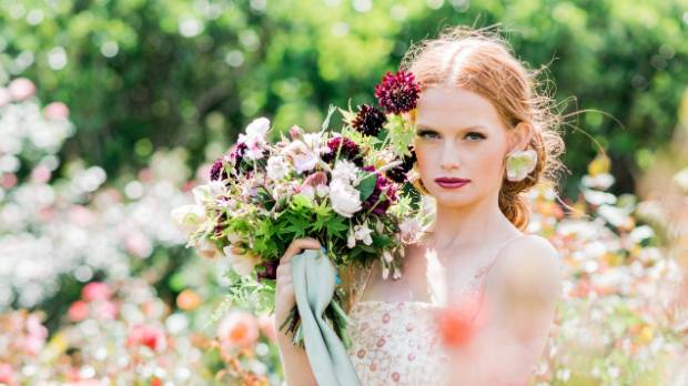 Wellington florist Yvette Edwards says garden blooms and peach and blush pink hues are trending in wedding florals.
