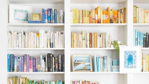 It may take a while to get right, but there's something satisfying about a colour co-ordinated bookshelf.