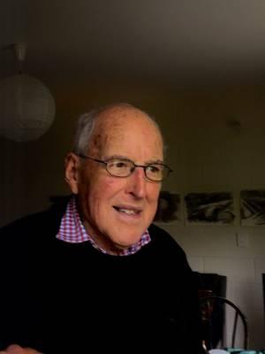 Retired artist and teacher Bruce Rennie.