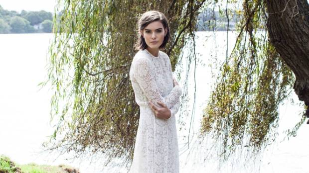 Long sleeves and lace are two top trends in bridalwear for the coming year.