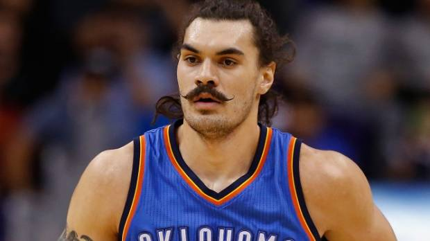 Steven Adams provided some able support for Russell Westbrook as the Thunder got the job done in New York.
