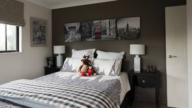 Festive touches brighten bedrooms.