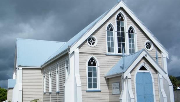 Waihi's St James Presbyterian Church is for sale on TradeMe.