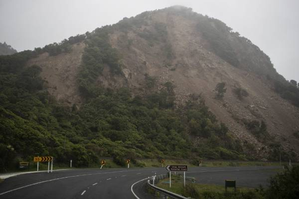State Highway 1 is closed due to extensive rock fall and landslides.