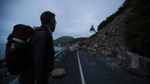 Press reporter Martin van Beynen explores the quake-damaged road north of Kaikoura.