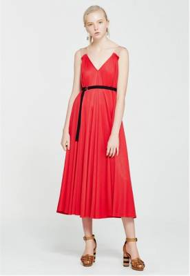 A nipped-in red dress like this one from Kate Sylvester will draw the eye.