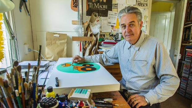 Author and illustrator Gavin Bishop in his studio. Bishop will receive an honorary doctorate from the University of ...