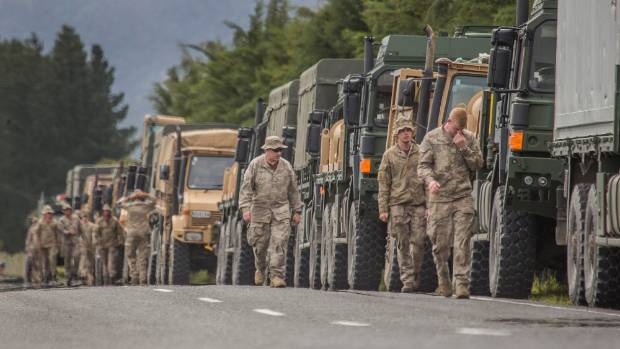 army convoy hits kaikoura after weather related delay stuffconz
