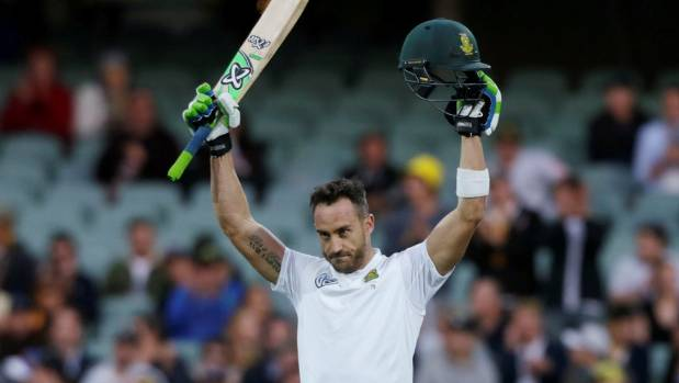 South Africa captain Faf du Plessis was disappointed with the crowd reaction to his century in Adelaide.