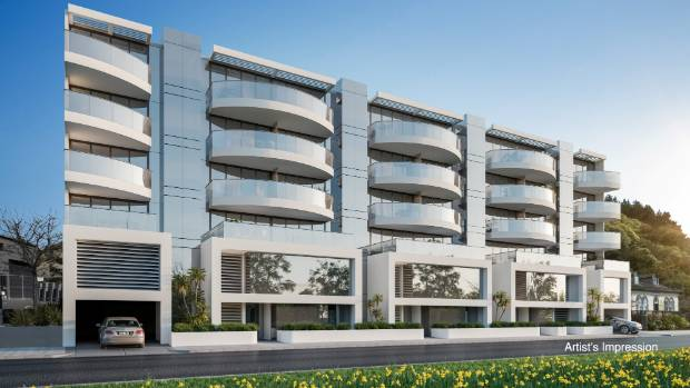 An artist's impression of the Saltwater Creek apartment development which has been pulled from the market.