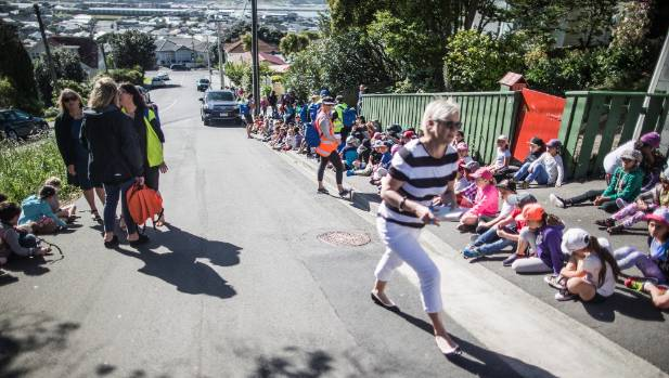 Lyall Bay School practises a tsunami evacuation drill in light of the recent earthquake/tsunami threat. Mixed messages ...