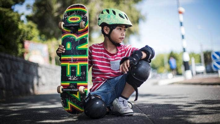 Suwat Piper, 9, skateboards to school every day, and can skate circles around his Grey Lynn School classmates who are just learning now.