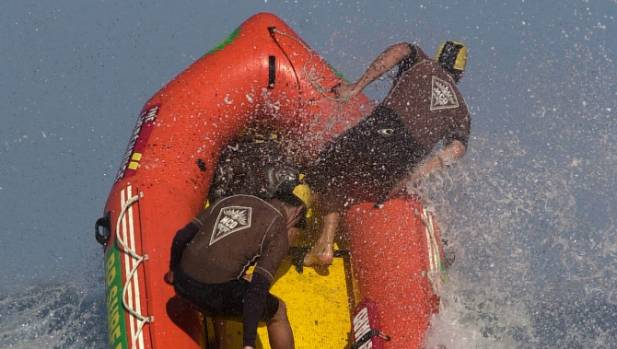 Matt Backler was a crewman for the Paekakariki Senior Men's mass rescuers crew at the Surf rescue Champs in Lyall Bay in ...