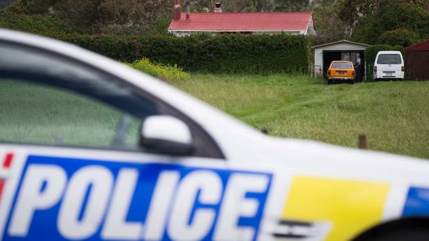 Police at the scene of the shooting in Mohaka.