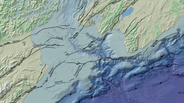 The Cook Strait fault zone has many different faults, which do not connect directly with the Wellington-Hutt Valley or ...