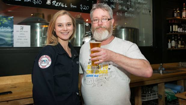 Simon Edward of Black Dog, who brewed an Extra Pale Ale named XPCA and donated all proceeds to Wellington SPCA, with ...