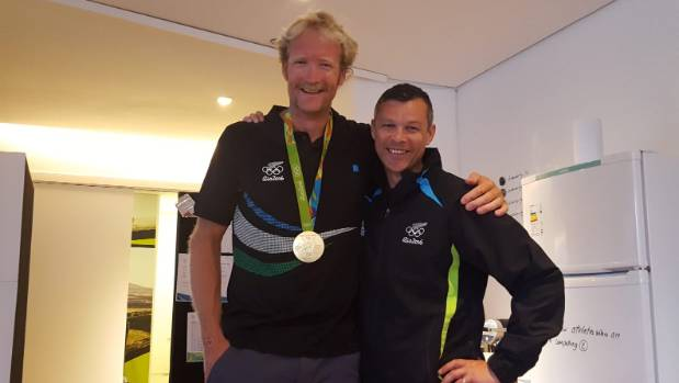 Manawatu's Trevor Shailer, right, here with Olympic gold medallist Hamish Murray at the Rio Olympics, has been named the ...