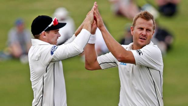 Neil Wagner of New Zealand, right, was among the wickets in the second test win over Pakistan in Hamilton on Tuesday.