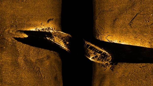 Parks Canada image shows one of two ships from the lost Franklin expedition.
