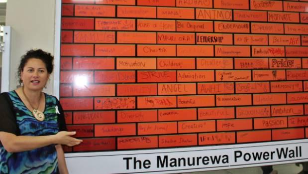 Manurewa MP Louisa Wall at the launch of the PowerWall.