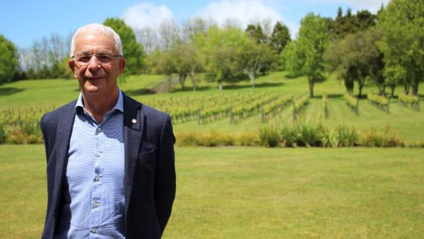 Sir George Fistonich at the Villa Maria Winery.