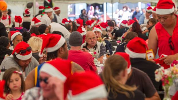 Christmas lunch at the City Mission is a festive affair reminding attendees of the reason for the season.